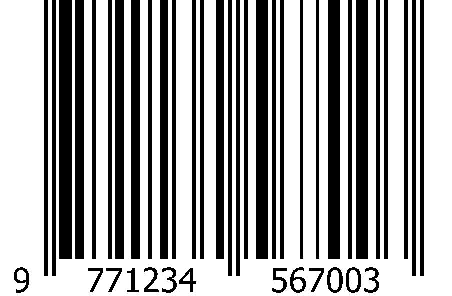 ISSN sample EAN barcode for magazine
